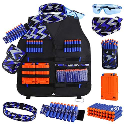 UWANTME Taktische Weste Jacke Set für Nerf Guns N-Strike Elite Serie Tactical Vest Kit Nerf Zubehör Set für...