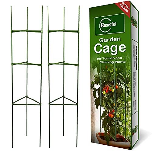 Pflanzenhalter, Rankhilfe Pflanzen, Robuste Tomatenkäfig, Gartenpflanze StützstangenKäfig Lange Stahl,...