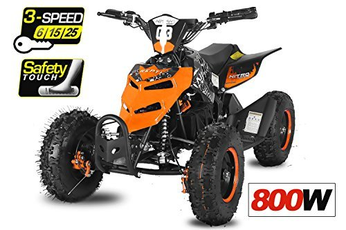 Eco Repti 6' 800W Quad Fusspedal + 3-Stufen Regulierer ATV Bike Pocket Kinderfahrzeug Elektrofahrzeug Elektro...