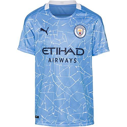 PUMA Uni Kinder Trikot 20/21 Home Manchester City FC Replica with Sponsor Logo T-Shirt, Team Light...