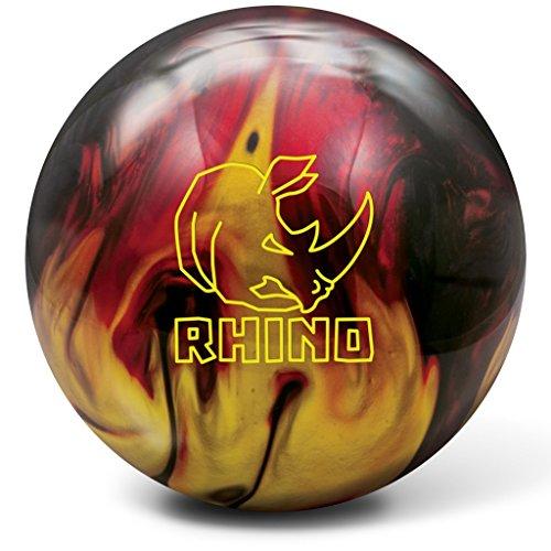 Brunswick Bowlingball RHINO div Farben und Größen (Red/Black/Gold Pearl, 16 Lbs)