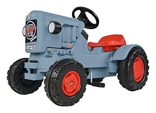 BIG - Traktor Eicher Diesel ED 16 - Trettraktor mit 3-Stufen Sitzverstellung, Kinderfahrzeug mit...