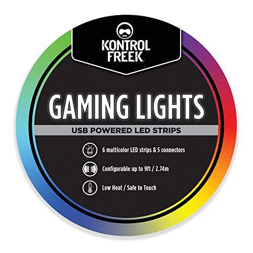 KontrolFreek Gaming Lights: LED Lichtstreifen, USB Anschluss mit Steuerung, 3M Klebefolie für TV, Konsole, PC...