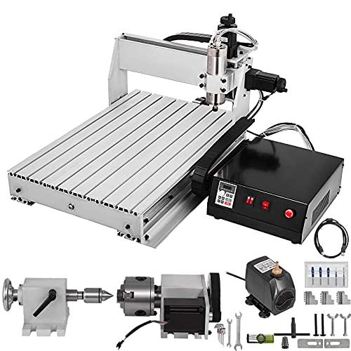 BananaB 6040 Graviermaschine 4Axis CNC Machine Kit 600x400mm Pro Milling Machine Engraving Machine 800W MACH3...