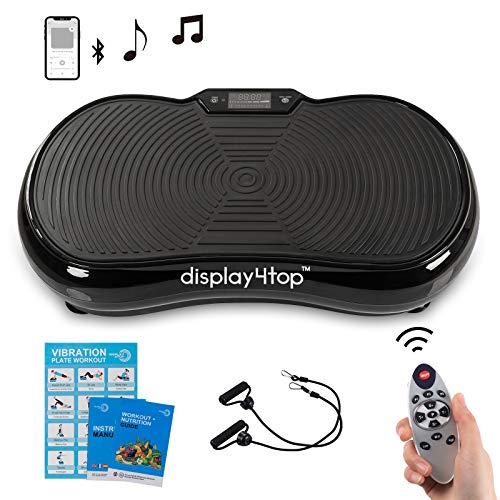 Display4top Ultraflache Vibrationsplatte, 5 Programs + 180 Levels, Vibrationstrainer für Fitness und...