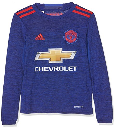 adidas Jungen Fußball/Auswärts-Trikot Manchester United Replica, Collegiate Royal/Real Red, 176