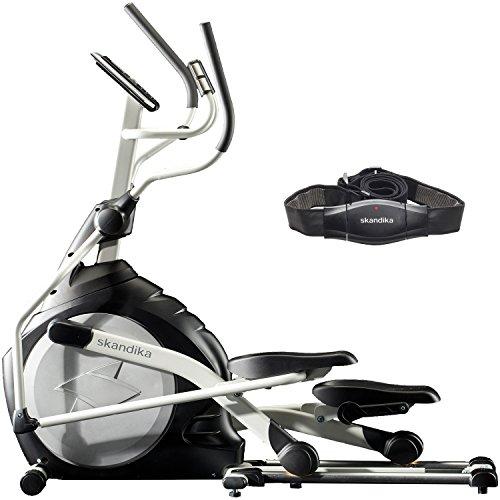 skandika Crosstrainer CardioCross Carbon Pro, 23,5 kg Schwungmasse, wartungsarmes Bremssytem über...