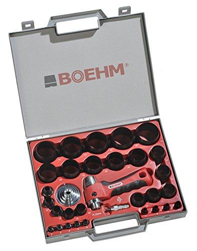 BOEHM JBL250PA Locheisensatz 2-50mm inkl. Halter, Aufnahmescheibe & federnder Zentrierspitze im...