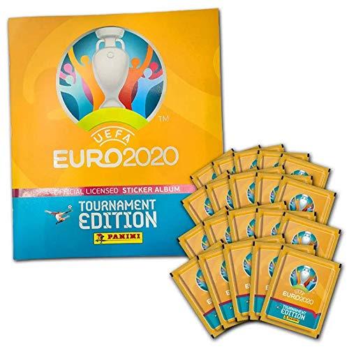 Panini UEFA Euro 2020™ Tournament Edition, 50 Stickertüten, Sammelbum, UEFA Stickerkollektion,...