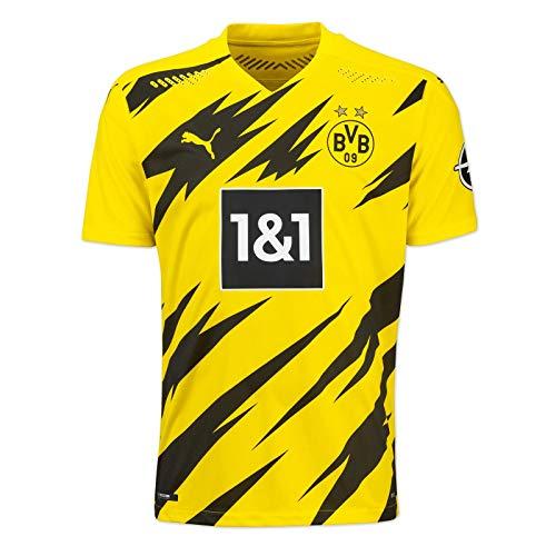 Puma Herren BVB Home Authentic Trikot 20/21 T-Shirt, Cyber Yellow Black, M