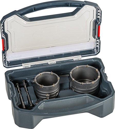 kwb Power-Box Bohrkronen-Set mit Durchmesser-Größe 68 mm und 82 mm – hartmetall-bestückt, schlagfest,...