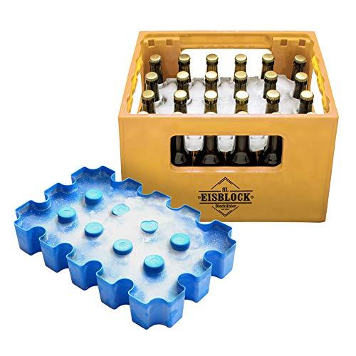 Monsterzeug Bierkasten Eisblock, Bierkühler Eiswürfelform für Bierkästen mit 24 Flaschen x 0,33 l,...