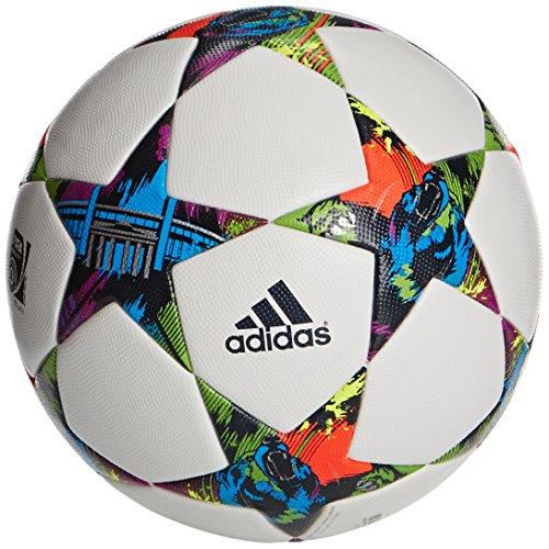 adidas Fussball Finale Berlin OMB Offizieller Spielball, White/Solar Blue2 S14/Flash Green S15, 36 x 44 x 1...