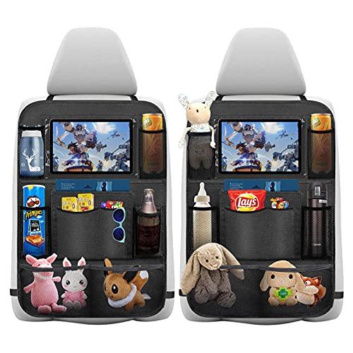 Auto Rückenlehnenschutz, laxikoo 2 Stück Wasserdicht Auto Rücksitz Organizer für Kinder, Rücksitzschoner,...