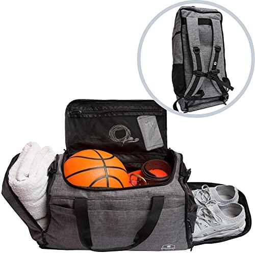 Bearformance® Ultimate Sportbag   Sporttasche mit Schuhfach & Nassfach mit Rucksackfunktion für Herren &...