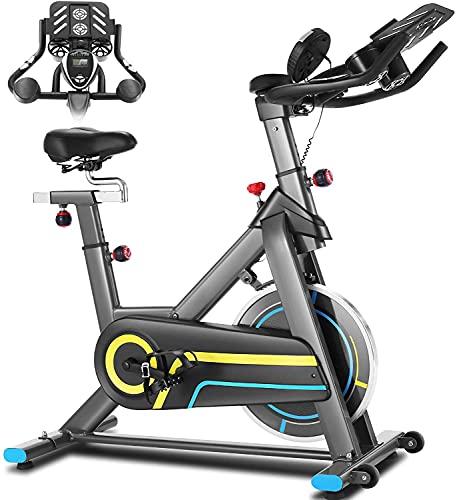 ANCHEER Indoor Cycling Bike Stationär, Heimtrainer mit Einstellbarer APP-Steuerung, Ipad-Halterung &...