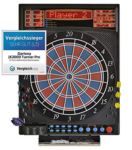 Dartona Elektronische Dartscheibe JX2000 Turnier Pro - | Dartscheibe elektronisch | Turnierscheibe mit 41...