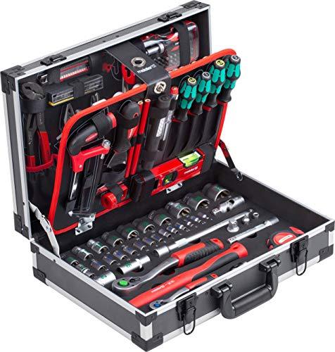 Meister Werkzeugkoffer 131-teilig - Mit Qualitätswerkzeug von Knipex & Wera - Stabiler Alu-Koffer / Profi...