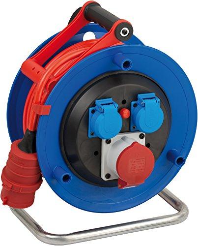 Brennenstuhl Garant CEE 1 IP44 Kabeltrommel (25m Kabel in signalrot, aus Spezialkunststoff, Einsatz im...