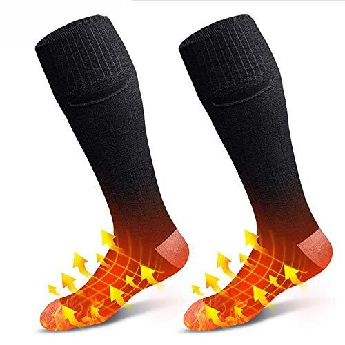 XTBL Beheizbare Socken Wiederaufladbare Batterie Heizsocken Einstellwärmeregler kann Thermosocken Beheizbare...