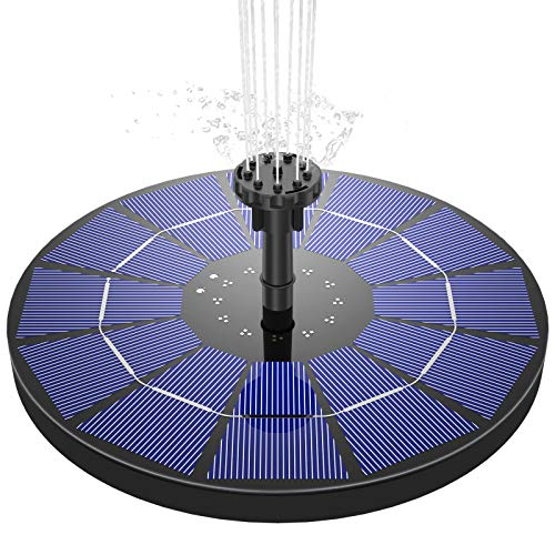 AISITIN Solar Springbrunnen 3.5W Solar Teichpumpe mit 180mm Durchmesser Solar Panel Eingebaute 1500mAh...