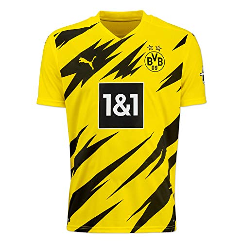 Puma Herren BVB Home Trikot Replica 20/21 T-Shirt, Cyber Yellow Black, S