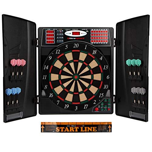 Ultrasport elektrisches Dartboard, mit und ohne Türen, Dartautomat für bis zu 16 Spieler, inklusive...