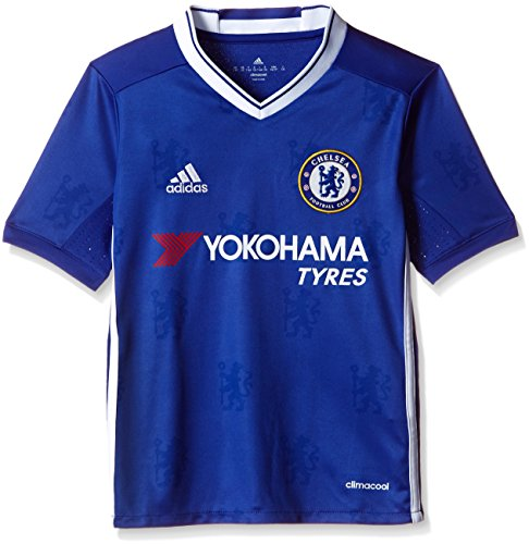 adidas Jungen Fußball/Heim-Trikot FC Replica, Chelsea Blue/White, 128
