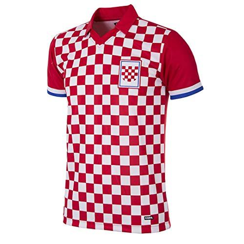 Copa Kroatien 1992 Retro Trikot kurzarm rot-weiß rot-weiß, M