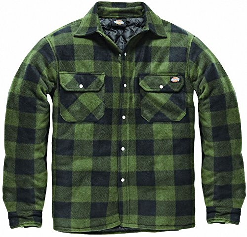Dickies Fleece Thermohemd Portland, SH5000, Holzfällerhemd(Grün, L)