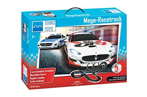 Teknotoys Autorennbahn-Set Mega-Racetrack 8 m Mastab 1:43