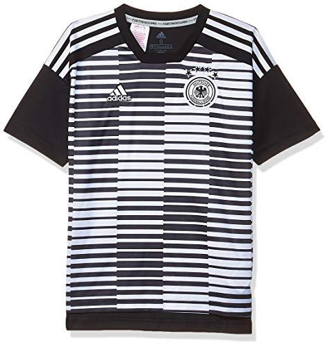 adidas Kinder DFB Pre-Match Shirt T, White/Black, 176