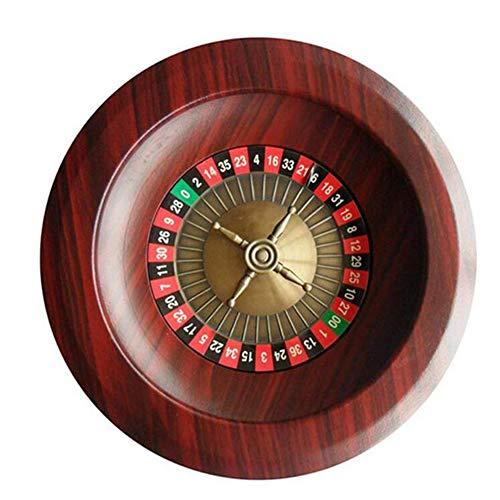 CLX Hlzernes Roulette-Rad Party-Roulette-Rad, Fun Freizeit Unterhaltung Roulette Tische Spiel Turntable Fr...