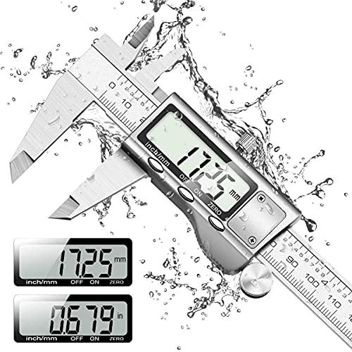 Messschieber Digital, Orthland Schieblehre IP54 Edelstahl Mikrometer Messlehre Messwerkzeuge 150mm mit...