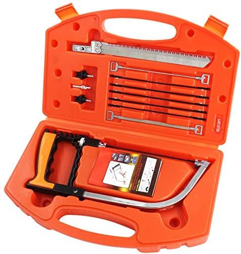ZIMAIC Handsäge Bügelsäge Set, 15-in-1, Multifunktions, mit 8 HSS Stahl Sägeblätter, Einstellbarer...