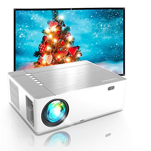 Bomaker Beamer 7200, Native 1080p Beamer Full HD, 4K, ±50° 5D Elektronische Korrektur, 50% Verkleinerung,...