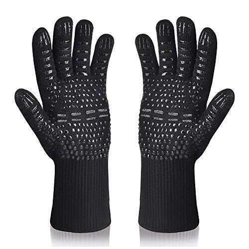 Karrong Grillhandschuhe Ofenhandschuhe Hitzebeständig bis zu 800 ° C Kochhandschuhe Grill BBQ Handschuhe...
