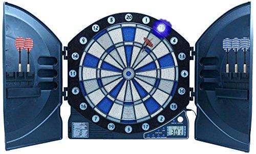 Best Sporting elektronische Dartscheibe Cambridge mit LED beleuchteten Ziffern, Kabinett Dartboard inklusive...