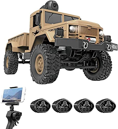 4WD Ferngesteuertes Auto Offroad RC mit 480P HD FPV-Kamera for Erwachsene, 1/16 Full Proportion...