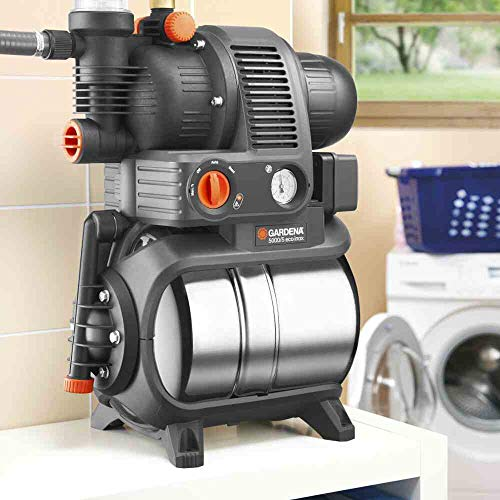 Gardena 01756-61 Hauswasserwerk 5000/5 eco inox, 1200 W, türkis, schwarz, Orange