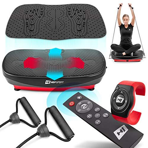 Hop-Sport 3D Vibrationsplatte HS-080VS Trainingsbänder 99 Intensitätsstufen + Oszillation + 3 Trainingszonen...