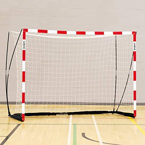 FORZA Handballtor Proflex - 3m x 2m Handballtor - in rot/weiß oder blau/weiß erhältlich (Rot, mit...