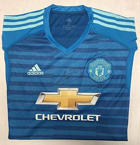David De Gea 2018–19 Manchester United Autogramm-Trikot (Away) – MUFC Manchester United Football Club...