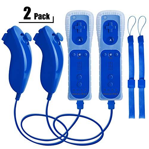 Wii Remote Controller und Nunchuk,TechKen WiiRemote PlusController Motion Plus mit Nunchuck...