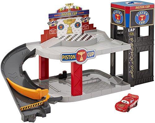 Mattel Disney Cars DWB90 Piston Cup Rennbahn-Parkhaus Spielset
