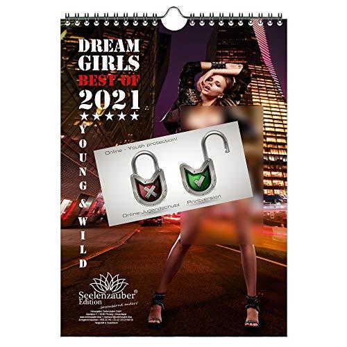 Sexy Girls DIN A4 Kalender Hochformat für 2021 Erotik - Geschenkset Inhalt: 1x Kalender, 1x Weihnachts- und...