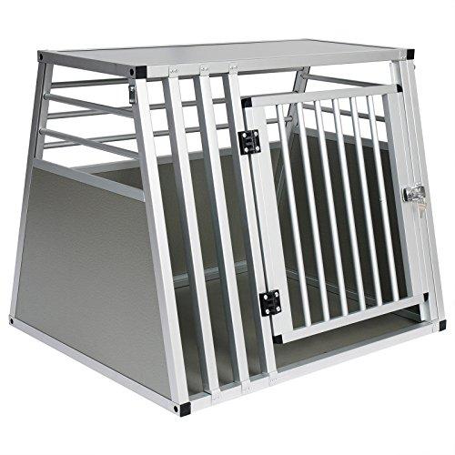 EUGAD Hundetransportbox Alu Hundebox Reisebox Autobox für große Hunde Husky Samojede Weimaraner Border...