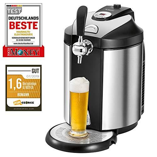 Bomann BZ 6029 CB Bierzapfanlage fr alle handelsblichen 5 Liter-Partyfsser, LED-Display zur komfortablen...