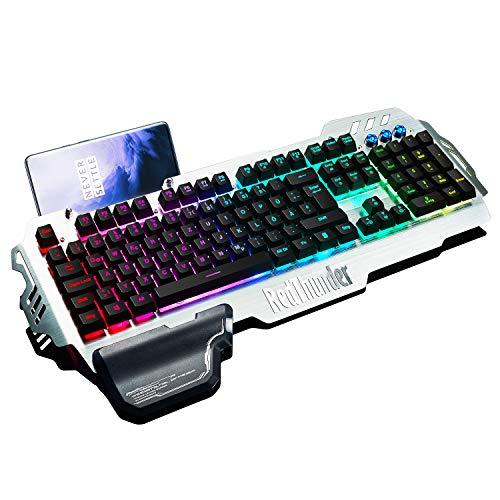 RedThunder K900 Halbmechanisch Gaming Tastatur [Version 2021], QWERTZ DEUTSCH Layout, RGB Beleuchtete...
