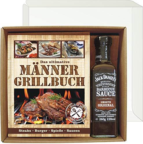 Andrea Verlag Das ultimative Männer Grillbuch Profi Set's für Männer (Männer Grillbuch mit Jack Daniel's...